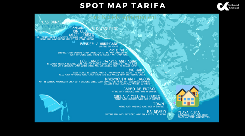 Kitesurf Spot Map Tarifa GLB appartment
